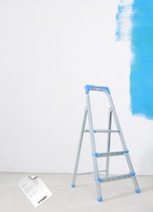 målningsarbete påbörjat
